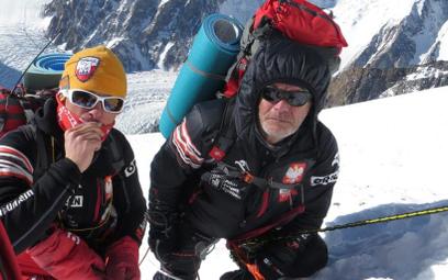 Artur Małek i Maciej Berbeka podczas wyprawy na Broad Peak