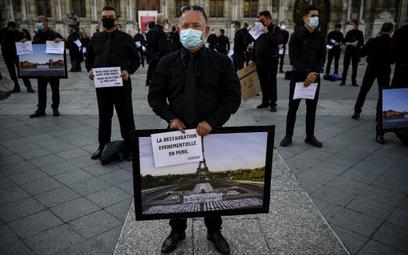 Protest w obronie miejsc pracy w Paryżu
