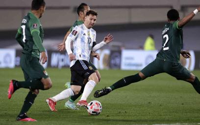 Lionel Messi w meczu Argentyna-Boliwia 3:0