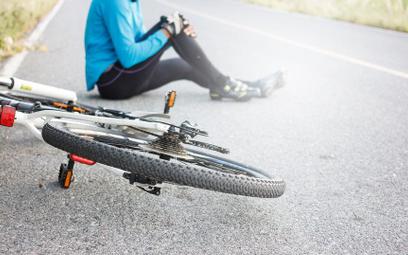 Za upadek rowerzysty zapłaci przedsiębiorstwo