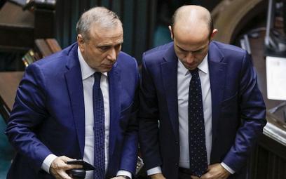 Nowy i stary szef PO - Grzegorz Schetyna i Borys Budka