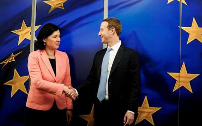 Věra Jourova spotkała się z Markiem Zuckerbergiem 17 lutego w Brukseli