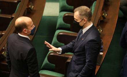 Przewodniczący PO Borys Budka i Cezary Tomczyk, szef klubu KO