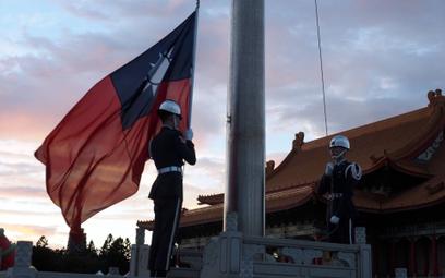 Podniesienie na maszt flagi Tajwanu