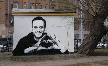 Mural przedstawiający Aleksieja Nawalnego