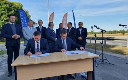Podpisanie umowy na projekt A2 do granicy z Białorusią 6 IX 21