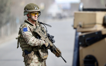 Brytyjski żołnierz w Afganistanie