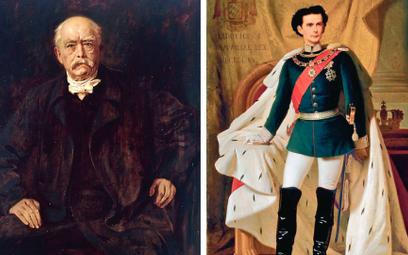 Kanclerz Rzeszy Otto von Bismarck-Schönhausen (1815–1898) i Król Bawarii LudwikII Wittelsbach (1845–