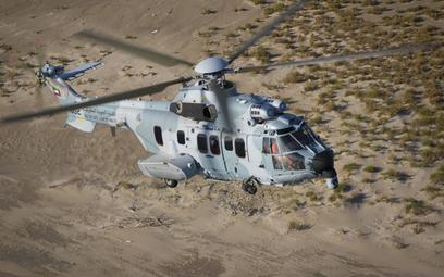 Jeden z dwóch pierwszych śmigłowców Airbus H225M Caracal dla lotnictwa Kuwejtu. Fot./Airbus.