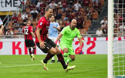 Zlatan Ibrahimović strzela gola Lazio