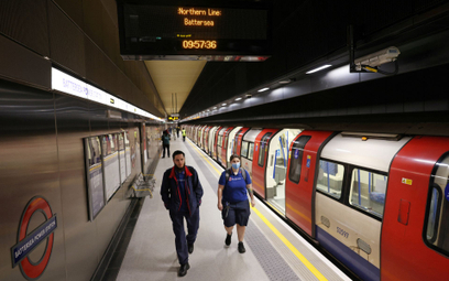Stacja metra w Londynie
