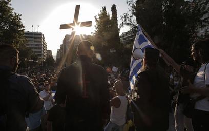 Grecja: Demonstracja przeciwników szczepień w Atenach