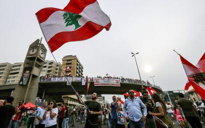 Protesty w Libanie. Fot./AFP