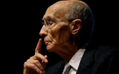 """Jose Saramago podczas prezentacji swej ostatniej książki """"Kain"""", Lizbona, 30 października 2009 r. W"""