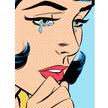 """Joseph McDermott """"Zbliżenie samotnej płaczącej kobiety"""". Praca inspirowana twórczością Roya Lichtens"""