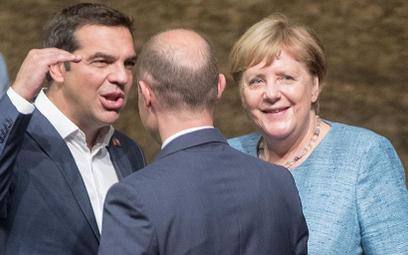 Premier Grecji Alexis Tsipras i kanclerz Niemiec Angela Merkel