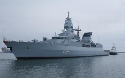 Fregata rakietowa Sachsen należąca do Deutsche Marine. Fot. Łukasz Pacholski.