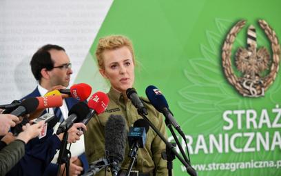 Ppor. Anna Michalska, rzeczniczka Straży Granicznej