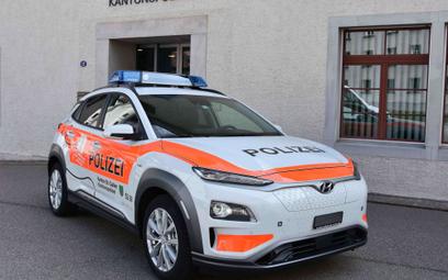 Elektryczny Hyundai w służbie szwajcarskiej policji