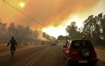 Grecja walczy z pożarami. Teraz w ogniu Eubea i zachodni Peloponez