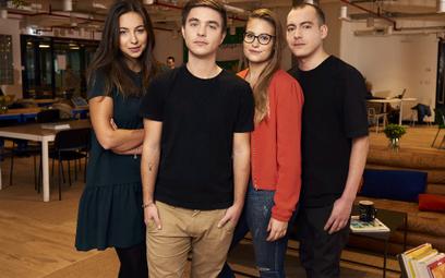 Zespół Remote-how ma ambitne plany rozwoju. Od lewej: Magda Sowierszenko, Iwo i Ola Szapar oraz Mare