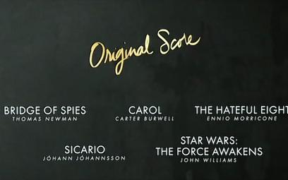 Oscary 2016: Nominacje za muzykę