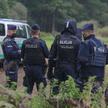 Policjanci na granicy z Białorusią