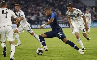 Kylian Mbappe w czasie meczu Niemcy-Francja rozgrywanego w ramach grupy Dywizji A Ligi Narodów