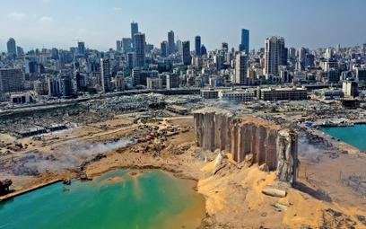 Wybuch w Bejrucie stworzył 43-metrowy krater