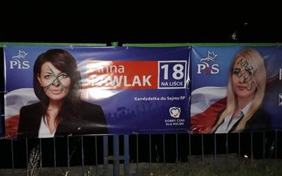 """""""Nazi raus"""" na bannerach polityków PiS w Szczecinie"""