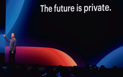 Szef i założyciel Facebooka Mark Zuckerberg podczas konferencji F8 Facebook Developers w San Jose w