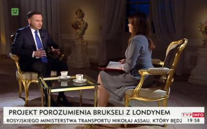 WIDEO: Prezydent Andrzej Duda w TVP Info