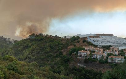 Pożar w pobliżu Estepony