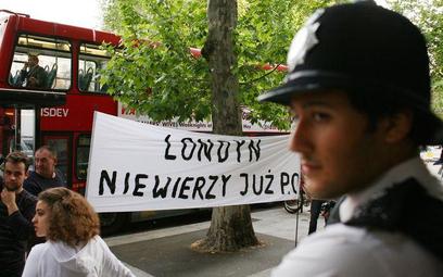Demonstracje w Londynie jeszcze przed wyborami. 02.06.2010r.