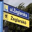 Kuźnica - nazwy ulic zapisane po polsku i po kaszubsku