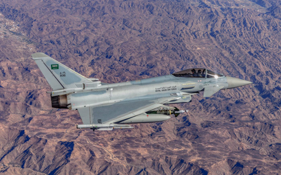 Wielozadaniowy samolot bojowy Eurofighter Typhoon saudyjskiego lotnictwa. Fot./Siły Powietrzne Arabi