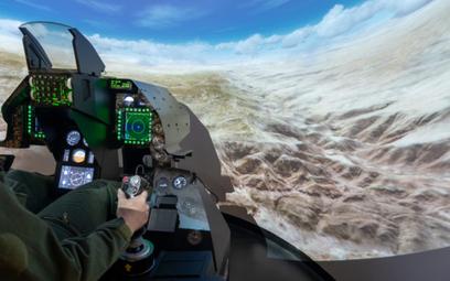 Współczesny symulator typu FMS samolotu F-16. Fot./L3 Harris.