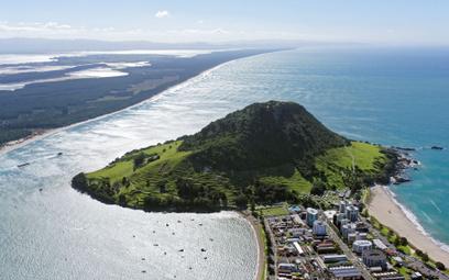 Wzgórze Maunganui, przedmieścia miasta Tauranga w Nowej Zelandii