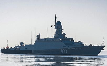 """Mały okręt rakietowy """"Wielikij Ustiug"""" na ćwiczeniach w 2016 r. Fot./mil.ru"""