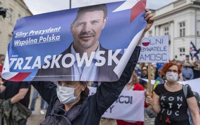 Sondaż: Trzaskowski minimalnie wygrywa w II turze