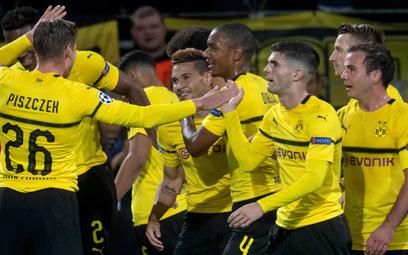 ?Radość Borussii po kolejnej bramce w wygranym 4:0 meczu z Atletico Madryt w Lidze Mistrzów