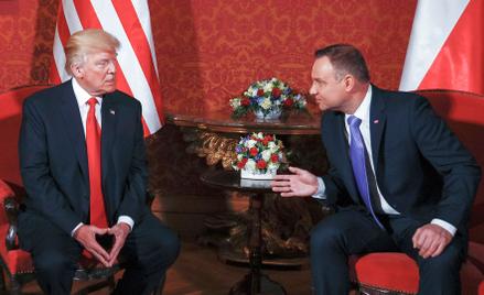 Donald Trump (na zdjęciu z Andrzejem Dudą podczas wizyty w Warszawie) pozytywnie odpowiadał na obawy