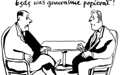 Komentarz rysunkowy. Generalnie w opozycji