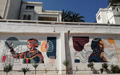 Skłodowska-Curie i Chopin na muralu w Algierze