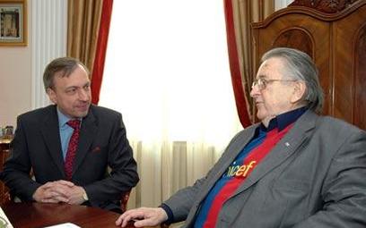 Kazimierz Kutz z ministrem Zdrojewskim