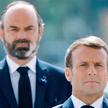Edouard Philippe jeszcze jako premier za plecami prezydenta Macrona, maj 2020