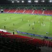 Mecz 1/4 finału piłkarskiego Pucharu Polski GKS Tychy – Cracovia, rozgrywany przy pustych trubunach