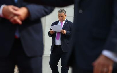 Premier Węgier Viktor Orban w czasie szczytu w Bratysławie