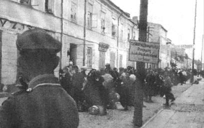Deportacja Żydów do Treblinki w czasie likwidacji getta w Bielsku-Białej, 1942 rok