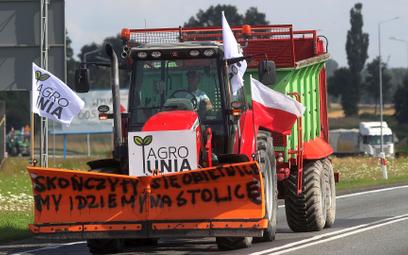 Srock, protest rolników z AgroUnii.